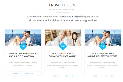 Blog page of Heartify theme