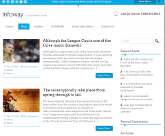 Blog page of Infoway theme
