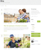 Blog page of Landscaper theme