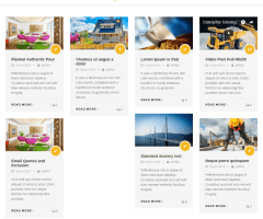 Blog page of Remould theme