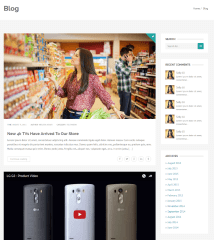 Blog page of Shopica theme