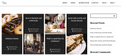 Blog page of restaurant