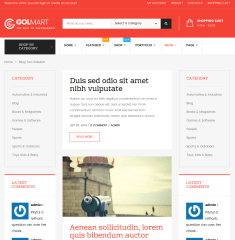 Blog with 2 sidebar golmart
