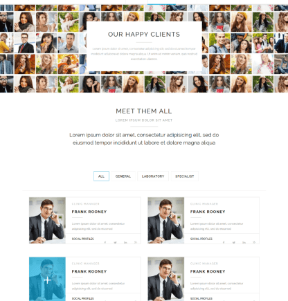 Clients and team of Heartify theme