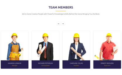 Constructent Team Member Page