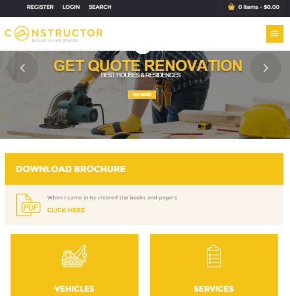 Constructor – Business WordPress theme