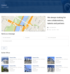 Contact Page – Builder