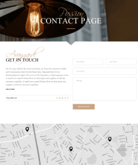 Contact Page – Chandelier