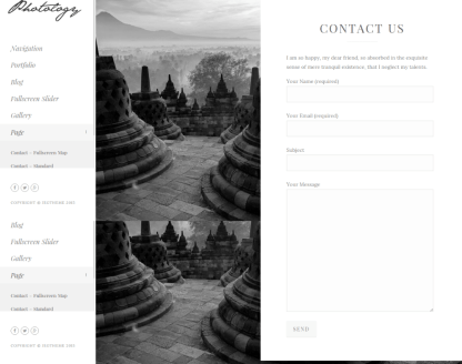 Contact Page Standard - Photology