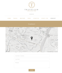 Contact Page of Traveller Theme