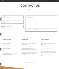 Contact page Elizium theme