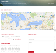 Contact page of Automotive car dealership theme.
