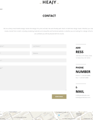 Contact page of Heajy