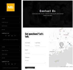 Contact page of NRGFolio