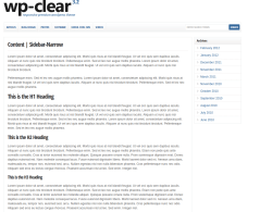 Content-Narrow sidebar Page  WP-Clear
