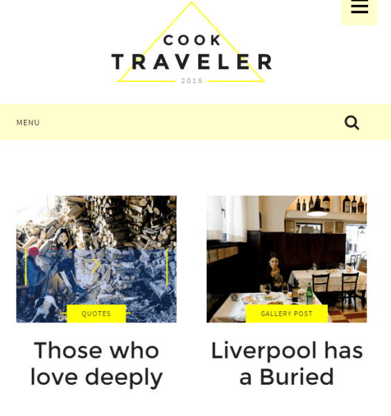 Cook Traveler – Responsive WordPress theme for bloggers