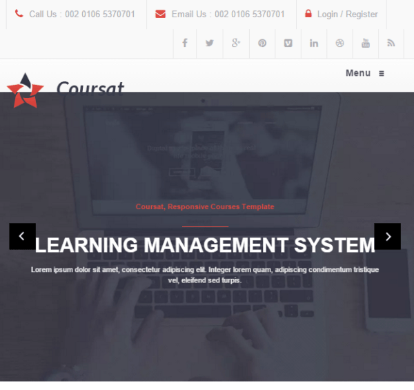 Coursat - Education WP theme