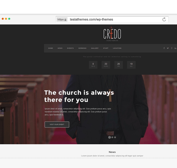 Credo – Responsive Church WordPress theme