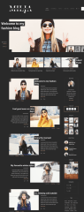 Dark style homepage of Milja theme