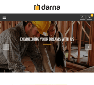 Darna - Building and construction WordPress theme