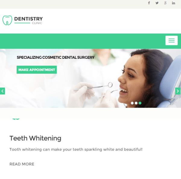 Dentistry – Dental clinic WordPress theme