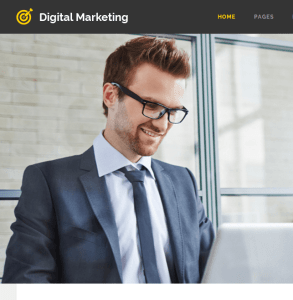 Digital marketing homepage