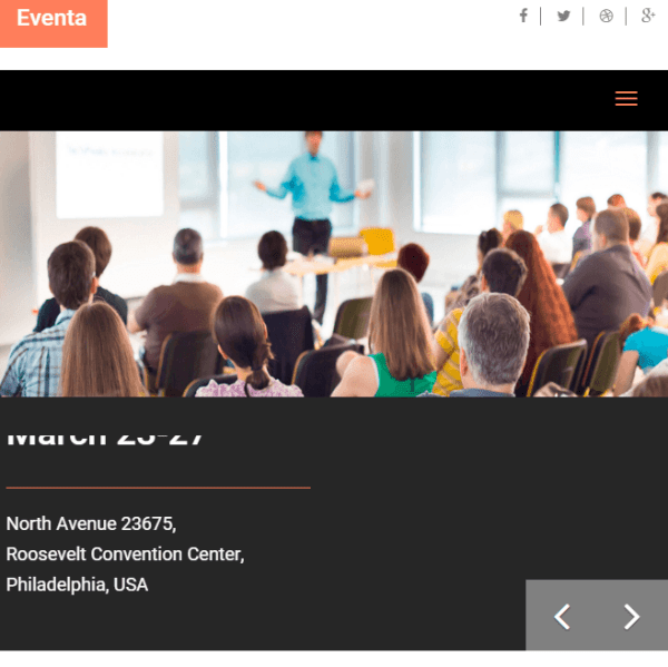 Eventa - WordPress theme for Events and Conferences