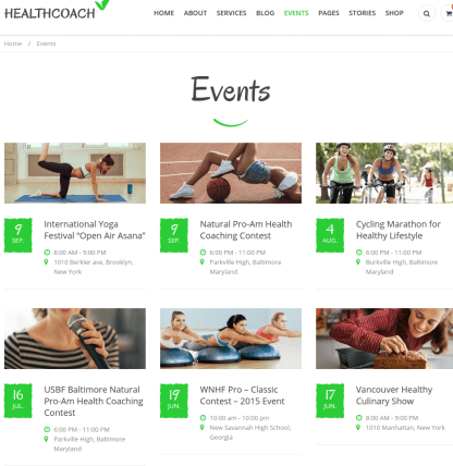 Events of Healthcoach