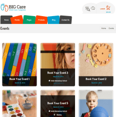 Events page of Big care