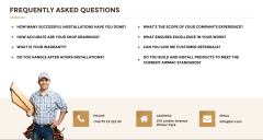 FAQ page of Woodworker