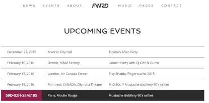 FWRD - Events page
