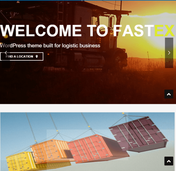 FastEx – Transport and Logistics Responsive  WordPress theme