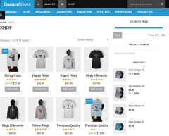 Shop page of FastNews theme