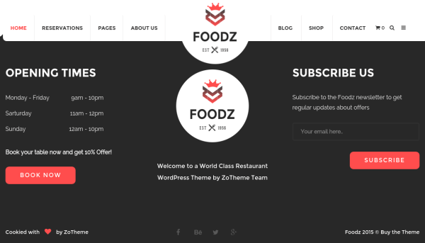Foodz Time Section