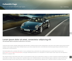 Full width page of Auomotive car dealership theme.