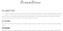Full width page of DreamStone