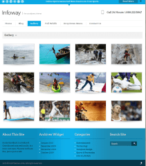 Gallery and footer of Infoway theme