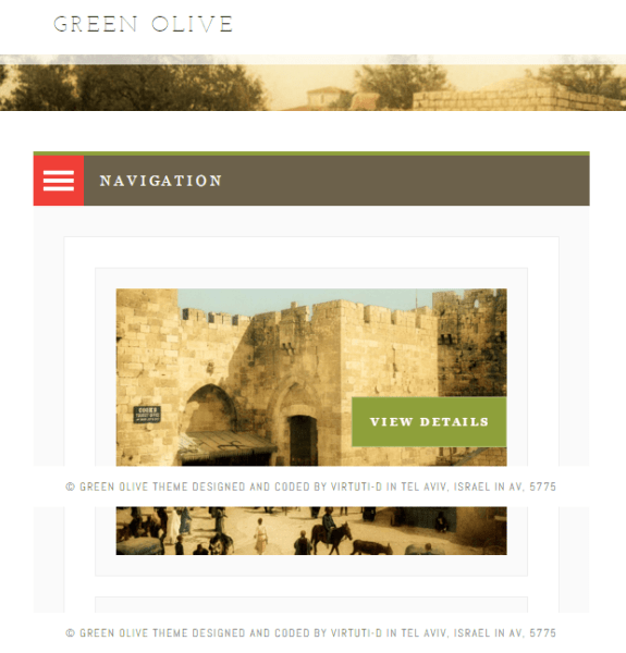 Green Olive – Blog and Portfolio WordPress theme