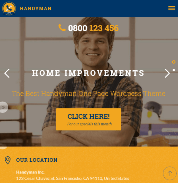 Handyman - Business WordPress theme