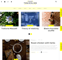 Homepage of Cook Traveler theme