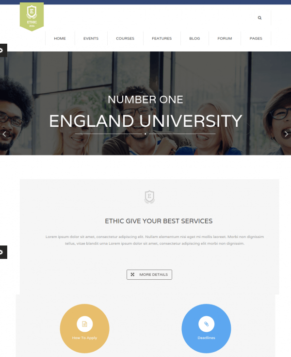 Homepage of Ethic