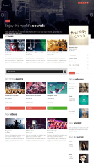 Homepage of MUSIC FLOW theme