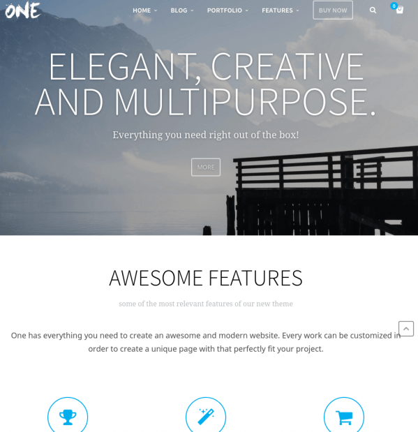 Homepage of One