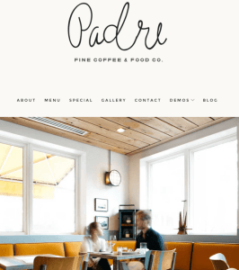 Padre - Restaurant WordPress theme