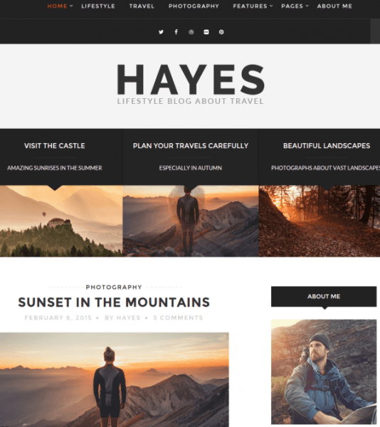 Homepage of hayes