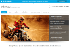 Homepage of infoway theme