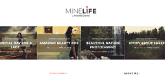 Homepage style of Minelife