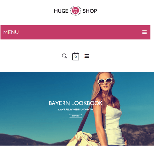 Huge shop – Responsive  Ecomerce WordPress theme
