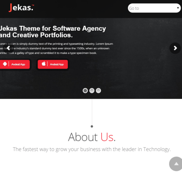 Jekas - WordPress theme for software agency and creative portfolios.