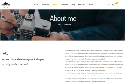K1 About Me Page